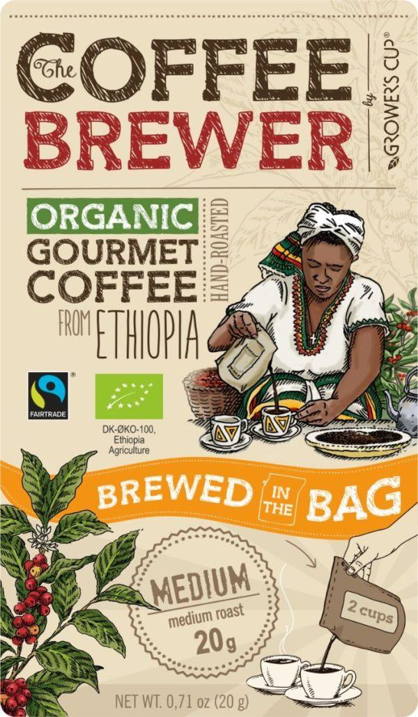Coffee Brewer Kaffe brygger pose Ethiopia
