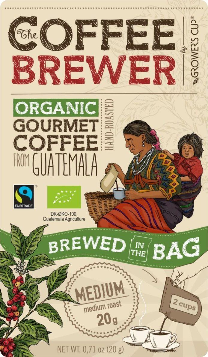 Coffee Brewer Kaffe brygger pose Guatemale